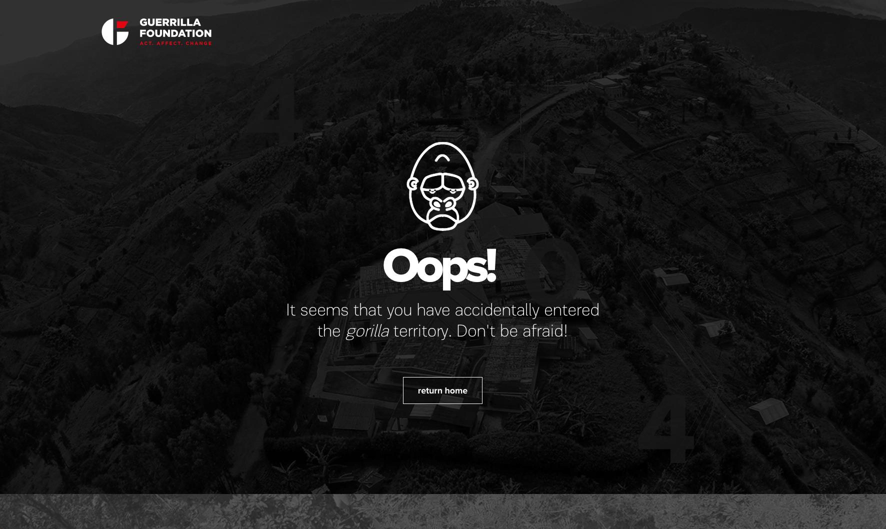 Guerilla Foundation 404 Page