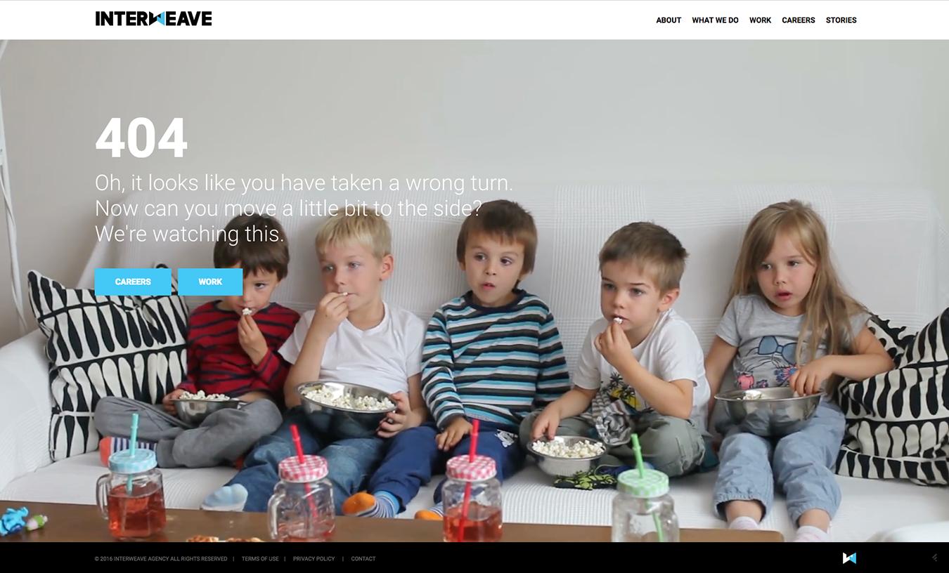 Interweave Digital Agency 404 Page